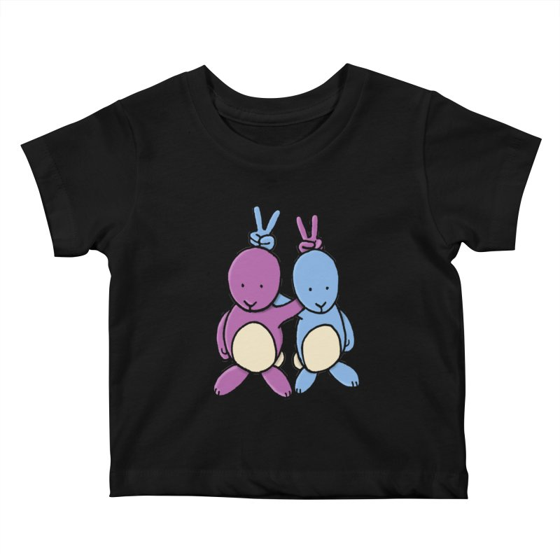 Bunny Ears Kids Baby T-Shirt by phildesignart's Artist Shop
