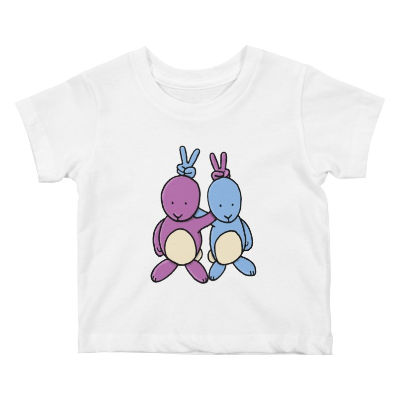 Bunny Ears Kids Baby T-Shirt by Phildesignart