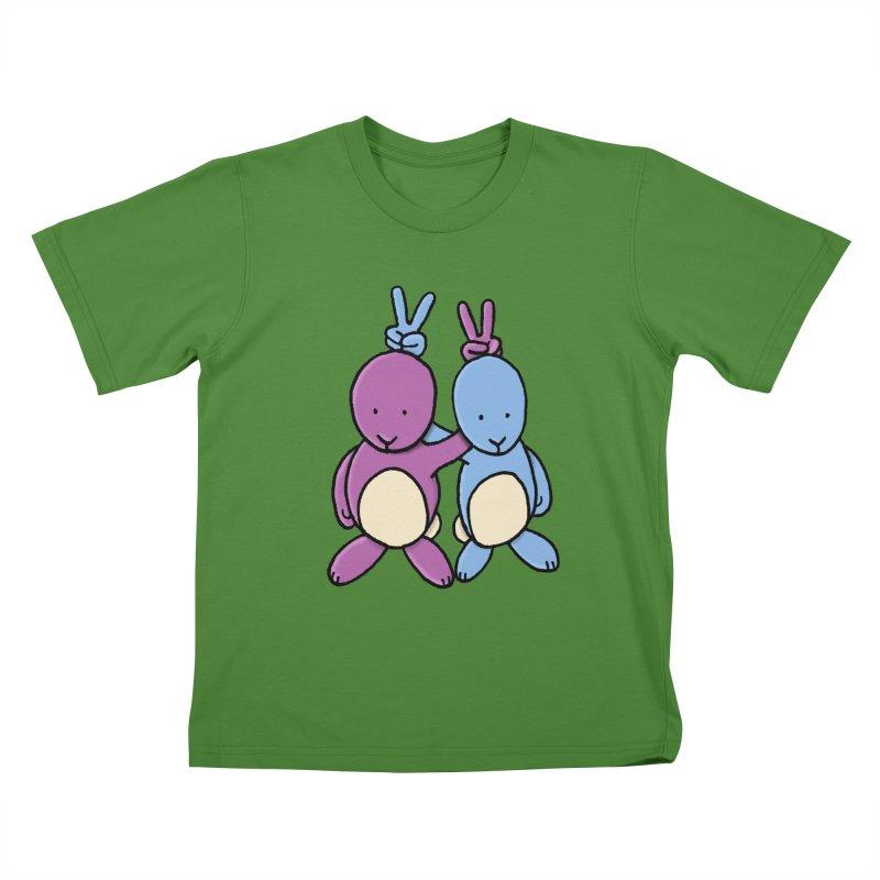 Bunny Ears Kids T-Shirt by Phildesignart