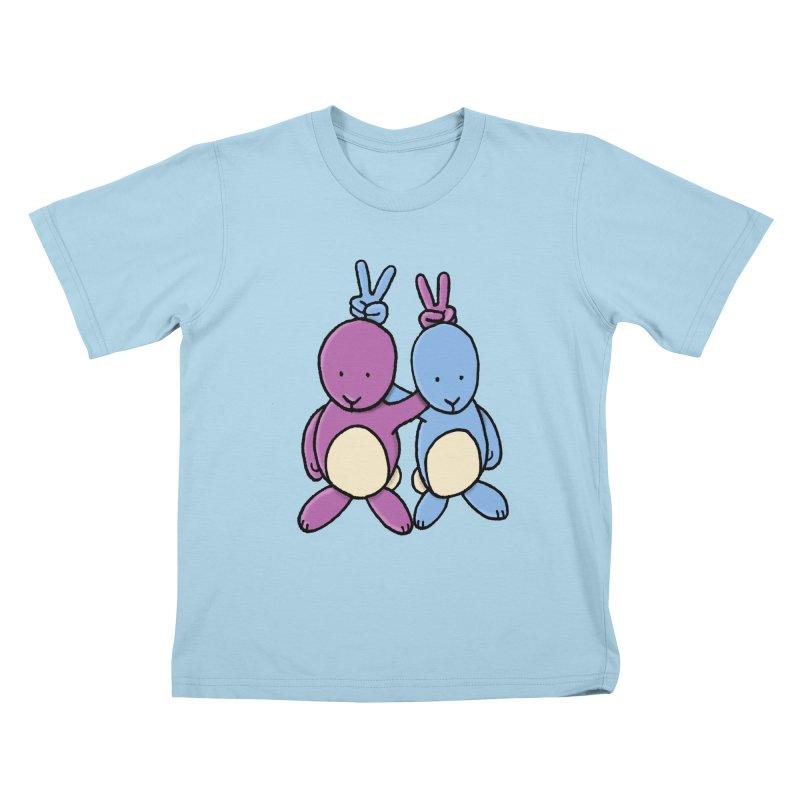 Bunny Ears Kids T-shirt by phildesignart's Artist Shop