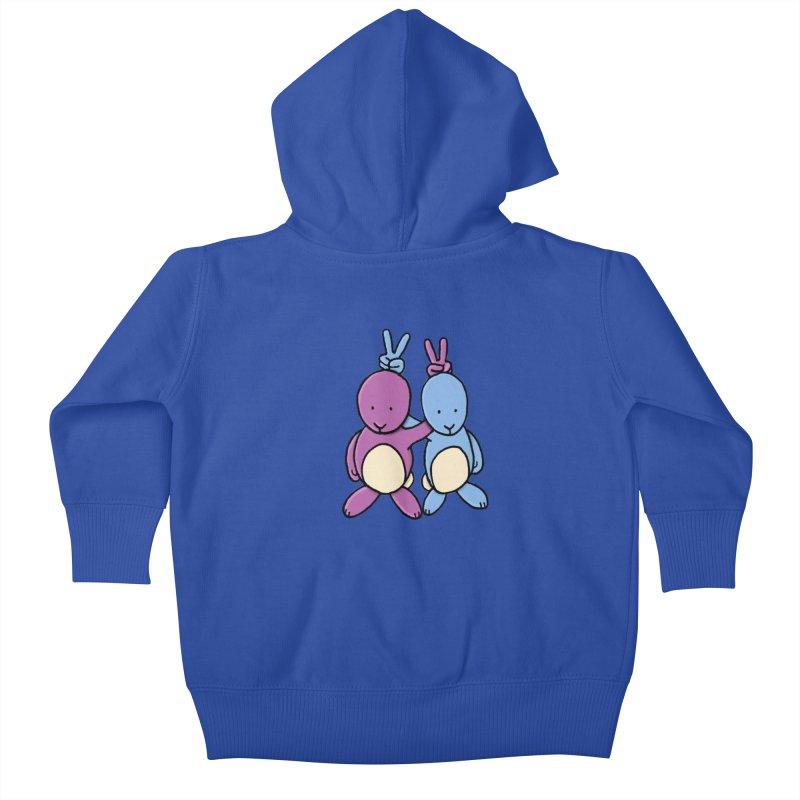 Bunny Ears Kids Baby Zip-Up Hoody by Phildesignart