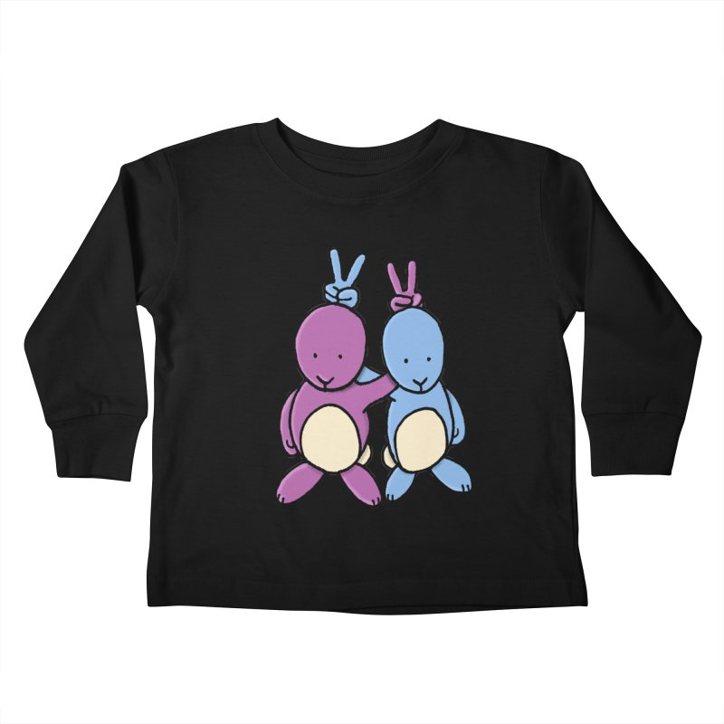 Bunny Ears Kids Toddler Longsleeve T-Shirt by phildesignart's Artist Shop