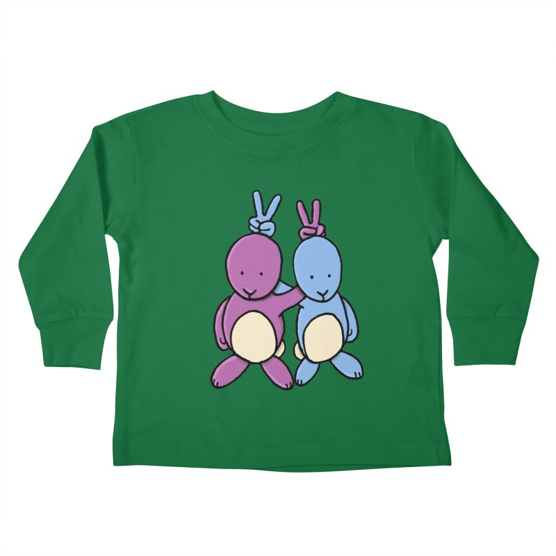 Bunny Ears Kids Toddler Longsleeve T-Shirt by Phildesignart