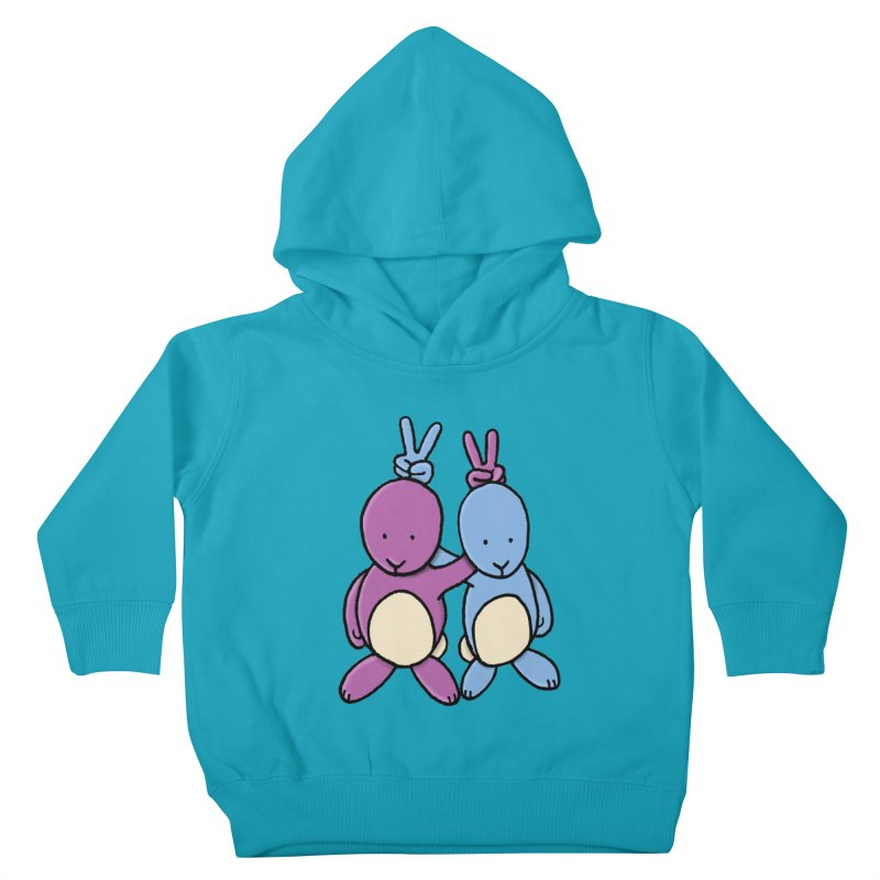 Bunny Ears Kids Toddler Pullover Hoody by Phildesignart