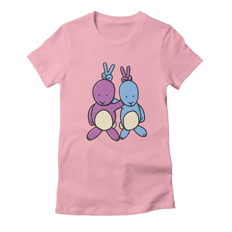 Bunny Ears Women's Fitted T-Shirt by Phildesignart