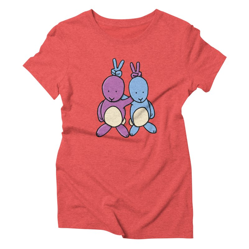 Bunny Ears Women's Triblend T-Shirt by Phildesignart
