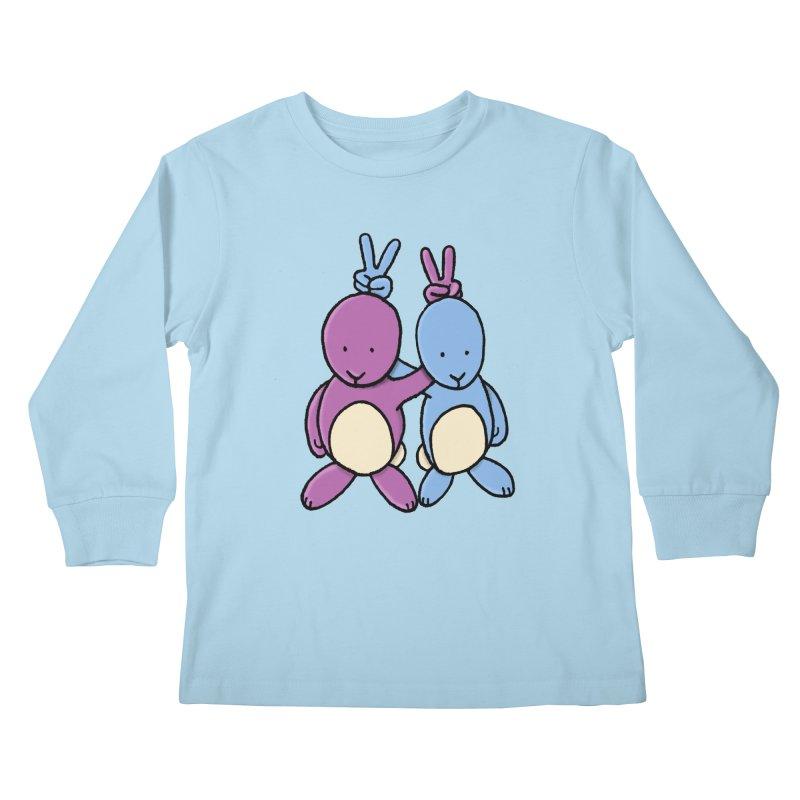 Bunny Ears Kids Longsleeve T-Shirt by Phildesignart