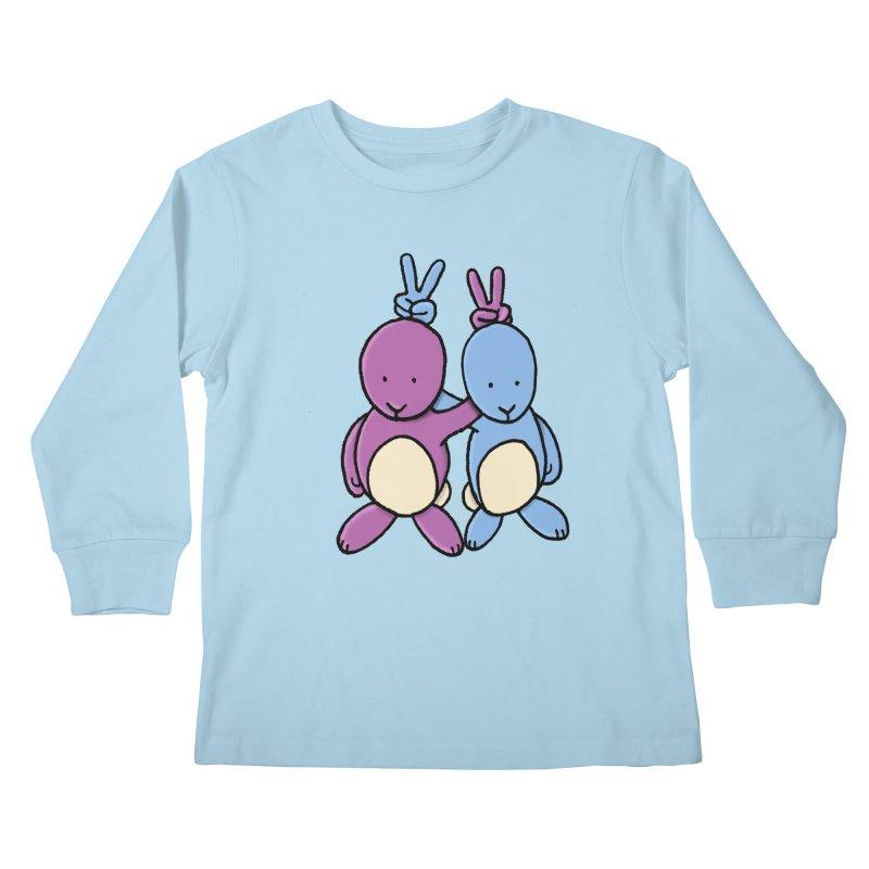 Bunny Ears Kids Longsleeve T-Shirt by phildesignart's Artist Shop