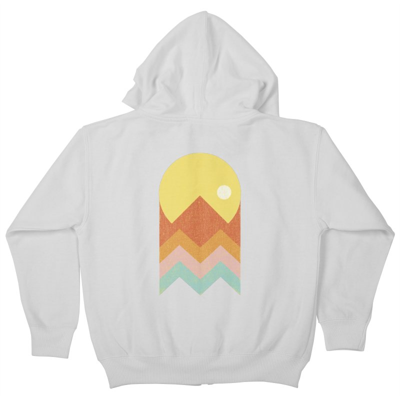 Amazeing Sunset Kids Zip-Up Hoody by Phildesignart