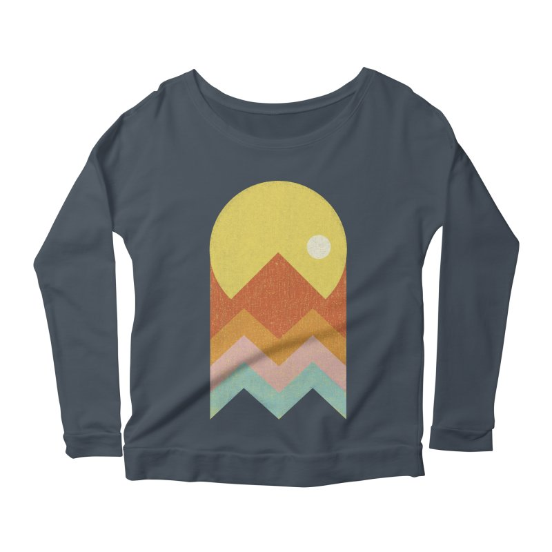 Amazeing Sunset Women's Longsleeve Scoopneck  by phildesignart's Artist Shop