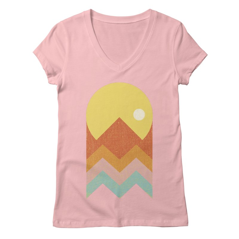 Amazeing Sunset Women's Regular V-Neck by Phildesignart