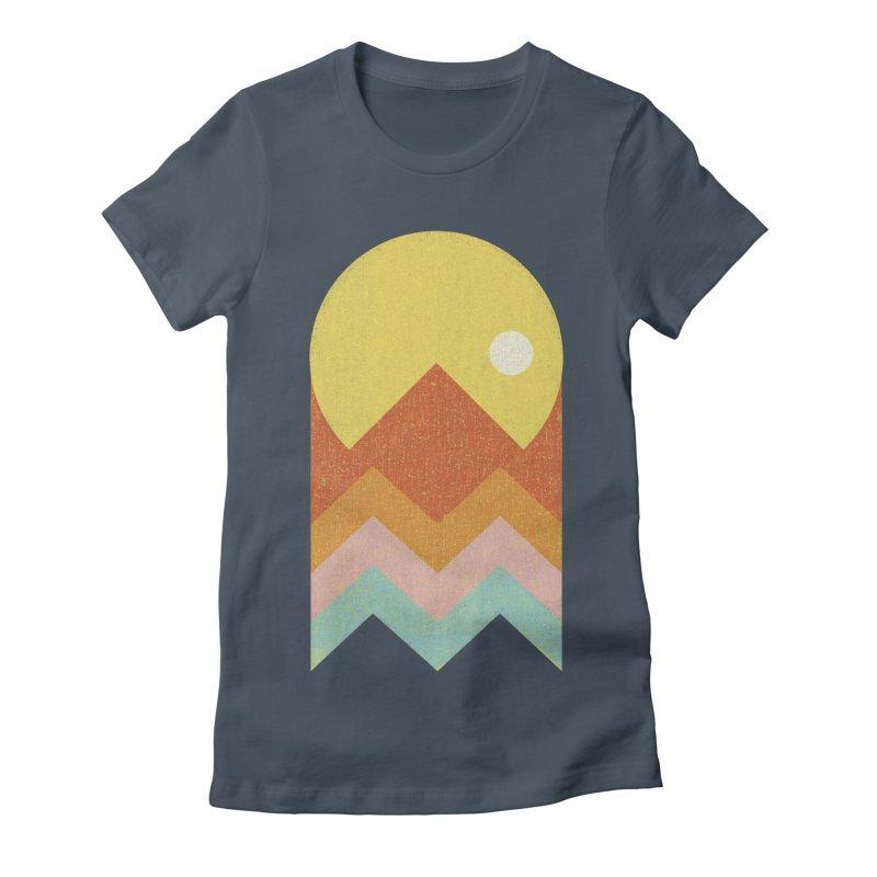 Amazeing Sunset Women's Fitted T-Shirt by phildesignart's Artist Shop