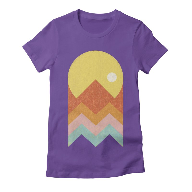 Amazeing Sunset Women's Fitted T-Shirt by Phildesignart