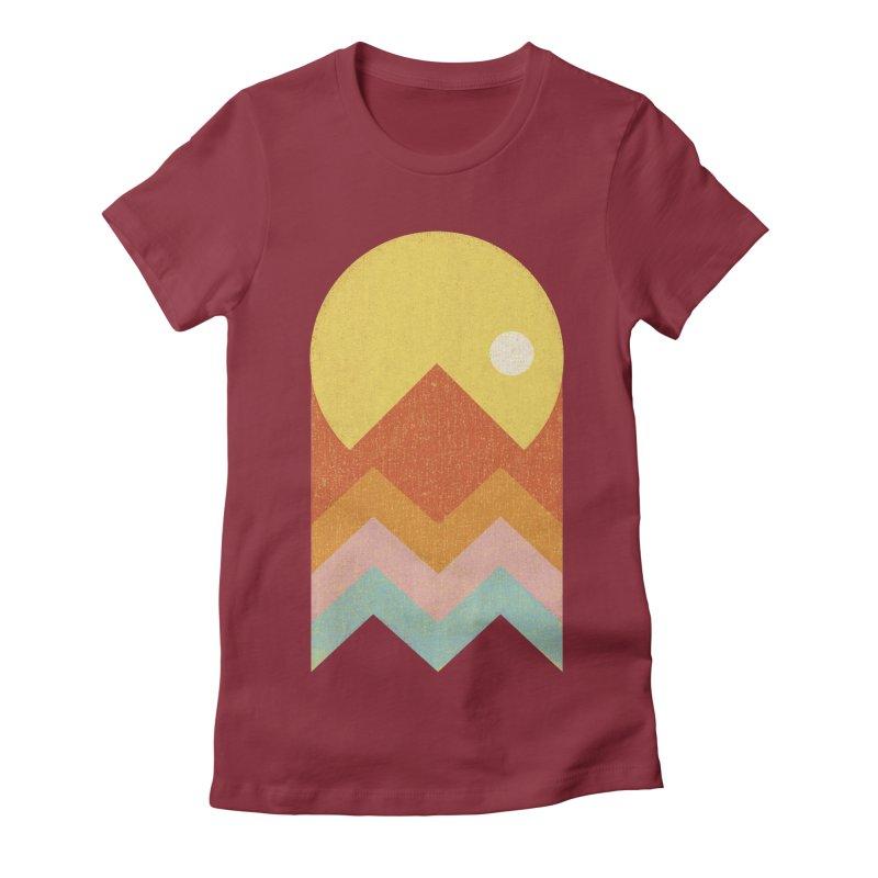 Amazeing Sunset Women's Fitted T-Shirt by Phildesignart