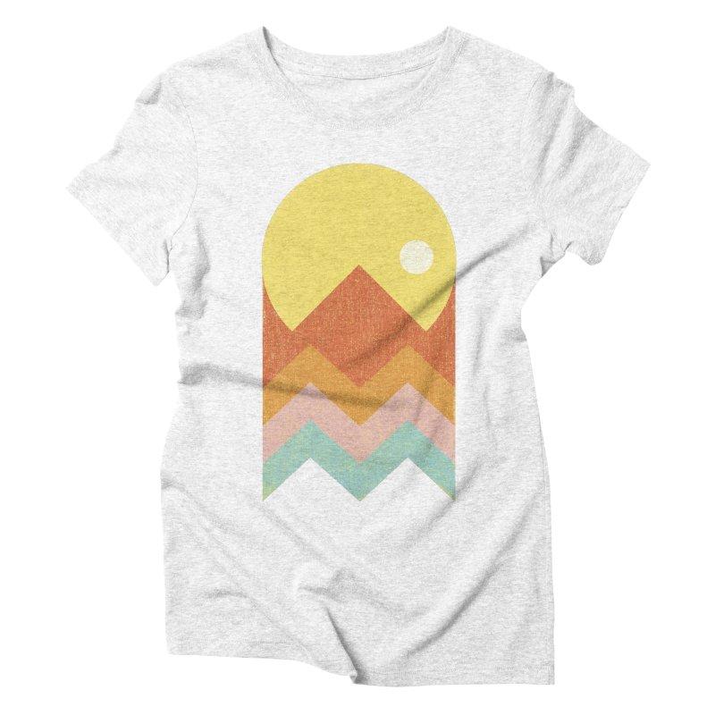 Amazeing Sunset Women's Triblend T-shirt by phildesignart's Artist Shop