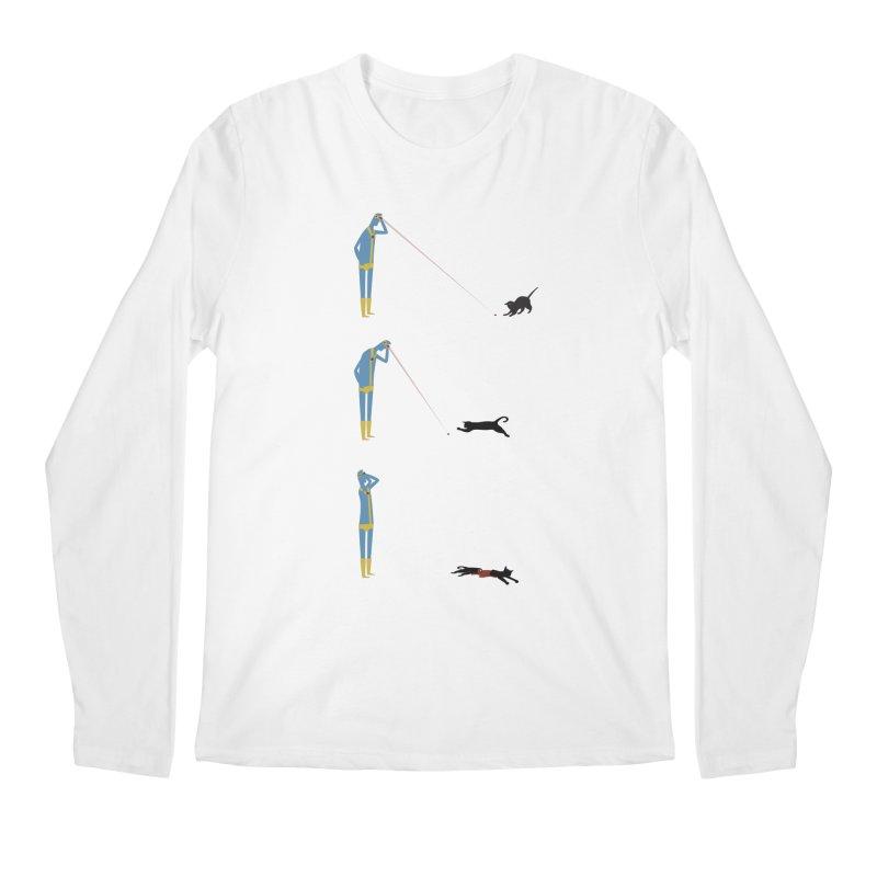 Cyclops' Cat Men's Regular Longsleeve T-Shirt by Phildesignart