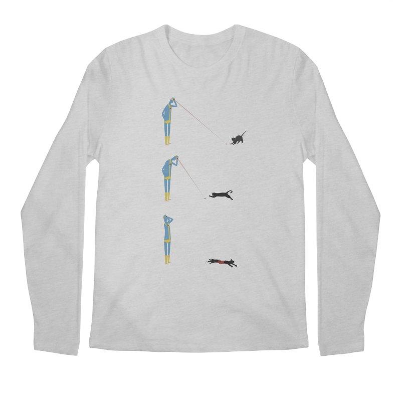 Cyclops' Cat Men's Longsleeve T-Shirt by phildesignart's Artist Shop