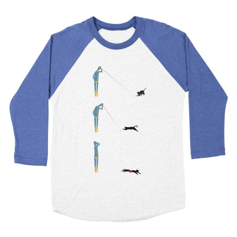 Cyclops' Cat Women's Baseball Triblend Longsleeve T-Shirt by Phildesignart
