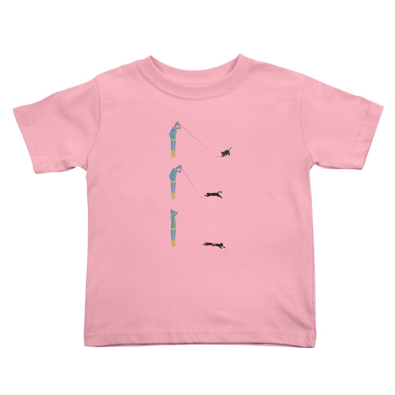 Cyclops' Cat Kids Toddler T-Shirt by phildesignart's Artist Shop