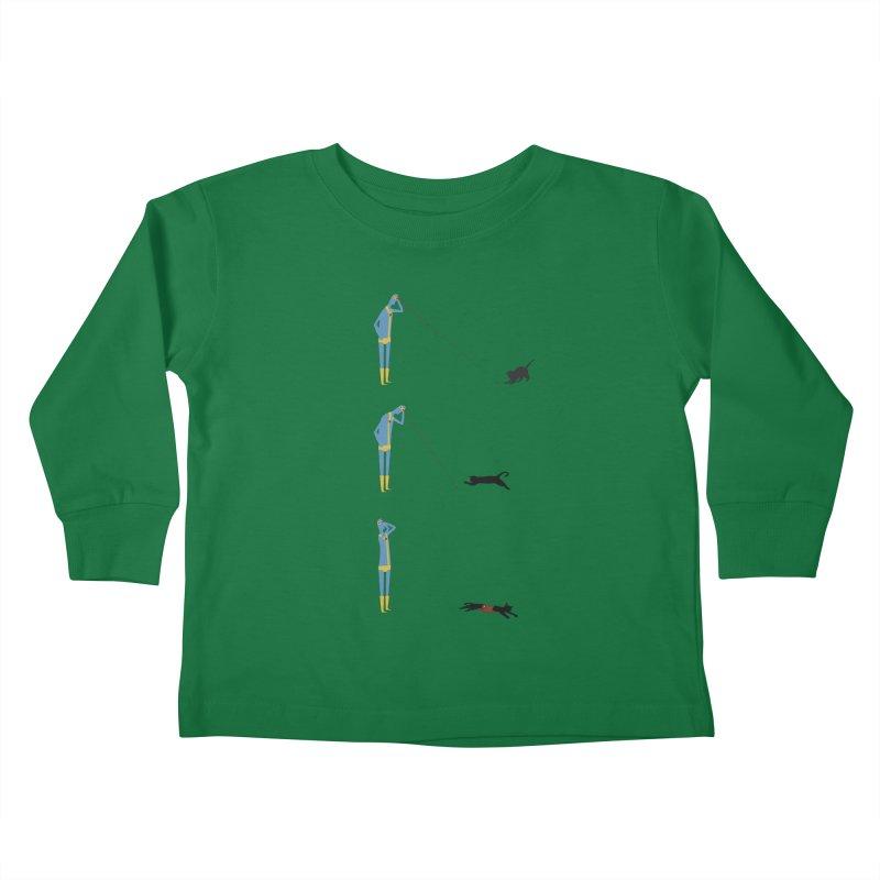 Cyclops' Cat Kids Toddler Longsleeve T-Shirt by Phildesignart