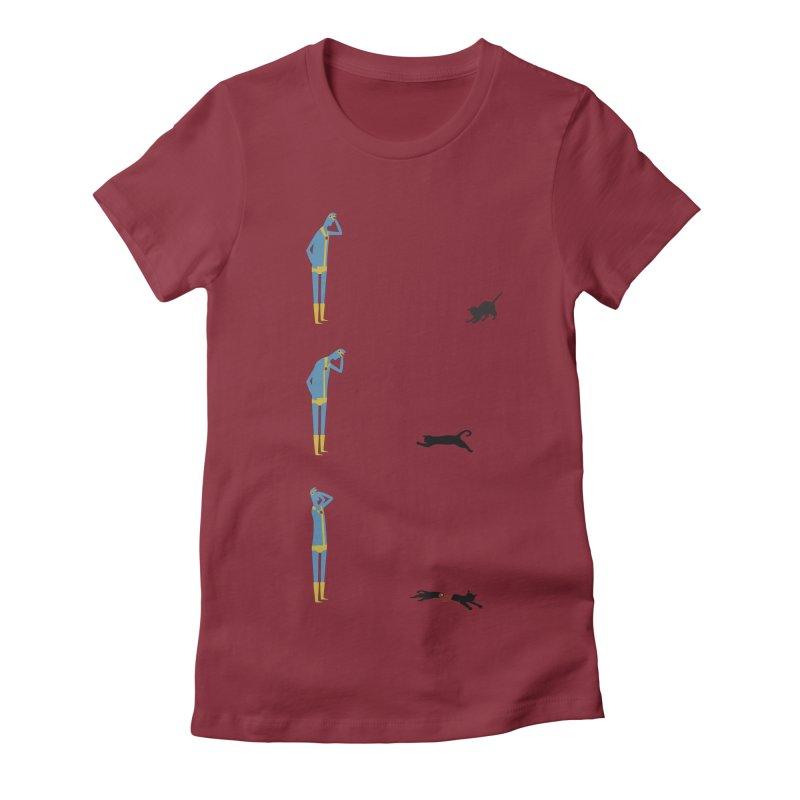 Cyclops' Cat Women's Fitted T-Shirt by phildesignart's Artist Shop