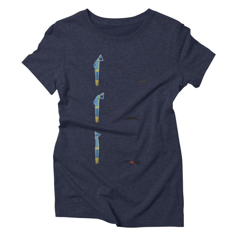 Cyclops' Cat Women's Triblend T-Shirt by Phildesignart