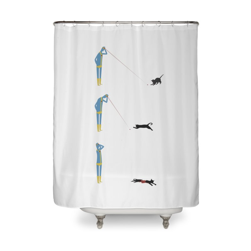 Cyclops' Cat Home Shower Curtain by Phildesignart