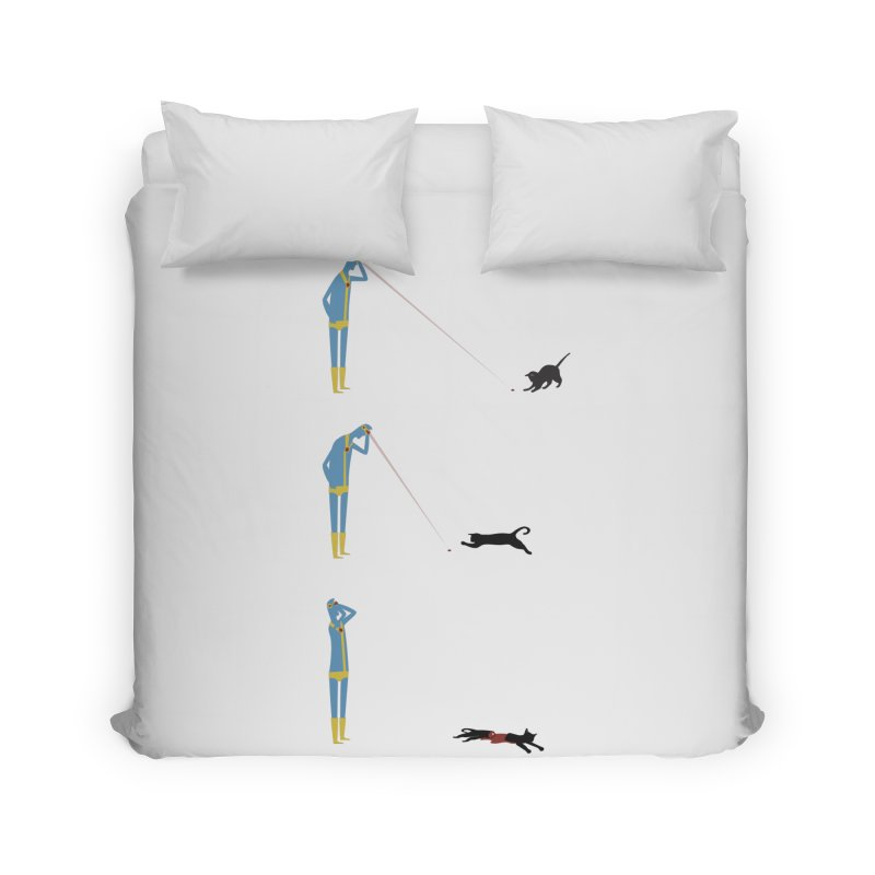 Cyclops' Cat Home Duvet by Phildesignart