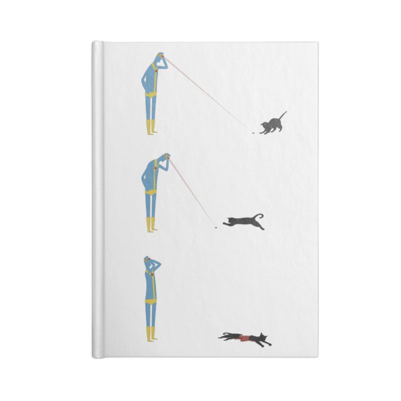 Cyclops' Cat Accessories Notebook by Phildesignart