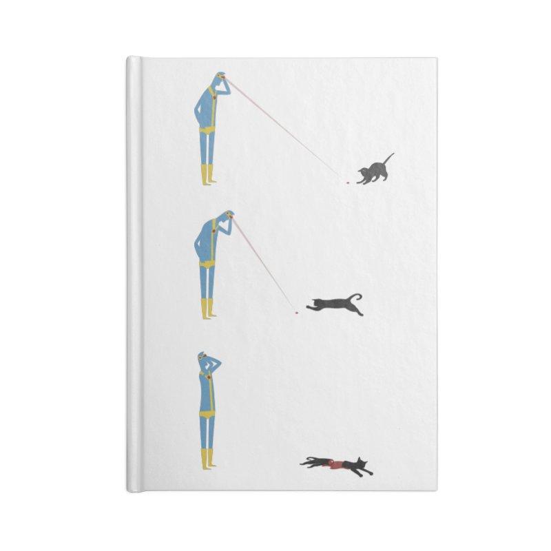 Cyclops' Cat Accessories Notebook by Phildesignart