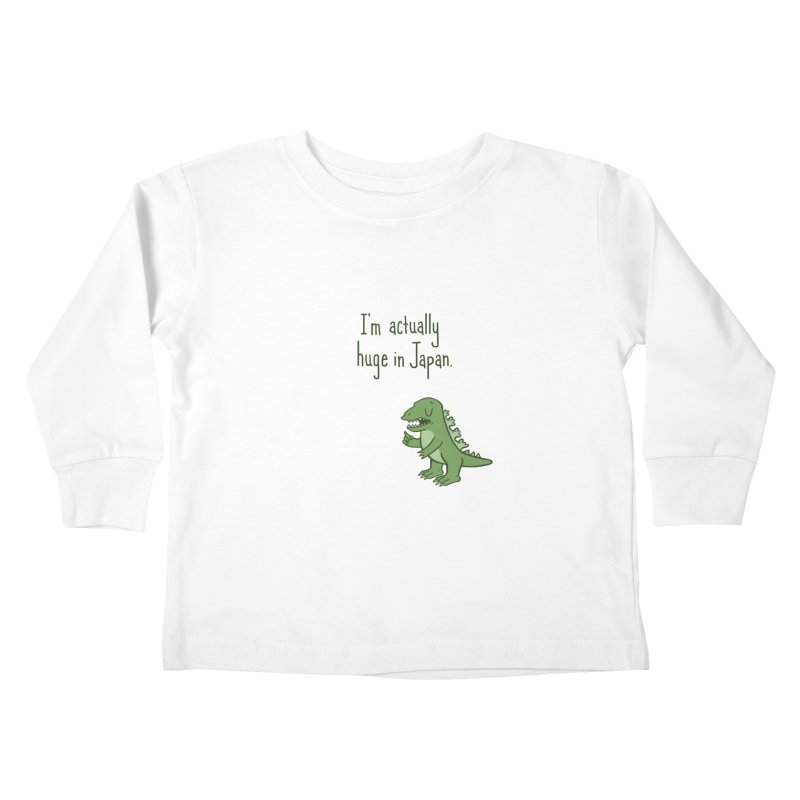 Huge in Japan Kids Toddler Longsleeve T-Shirt by phildesignart's Artist Shop