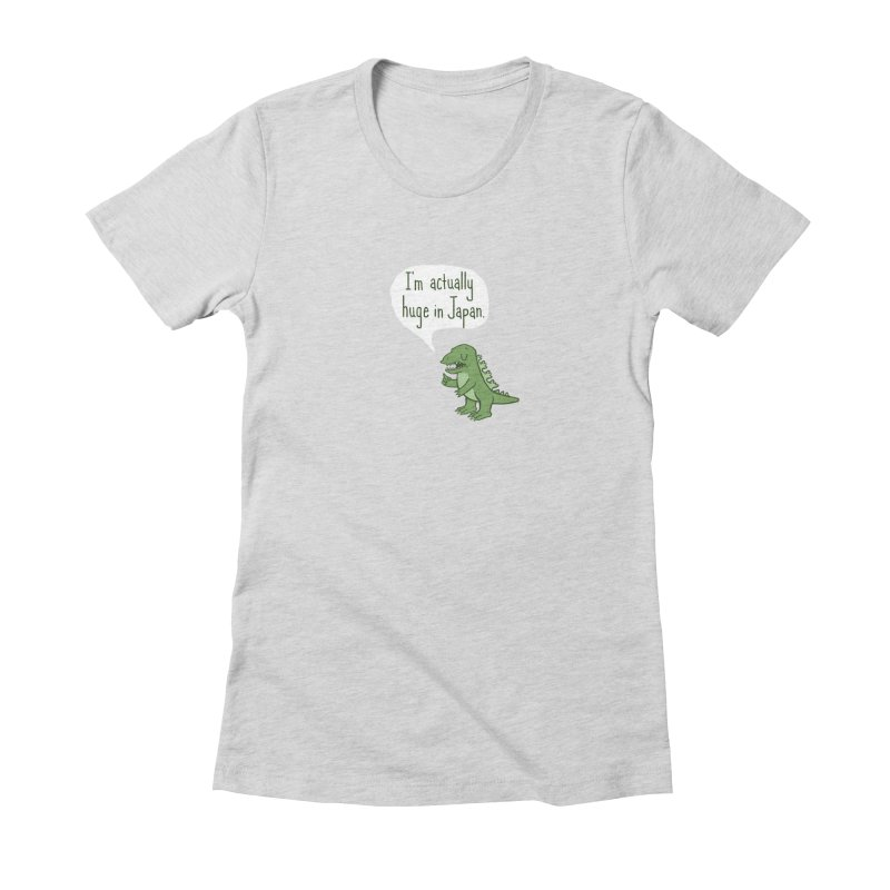 Huge in Japan Women's Fitted T-Shirt by Phildesignart