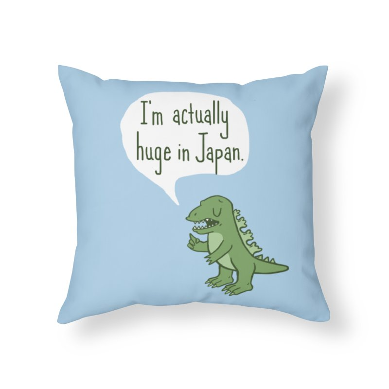 Huge in Japan Home Throw Pillow by Phildesignart