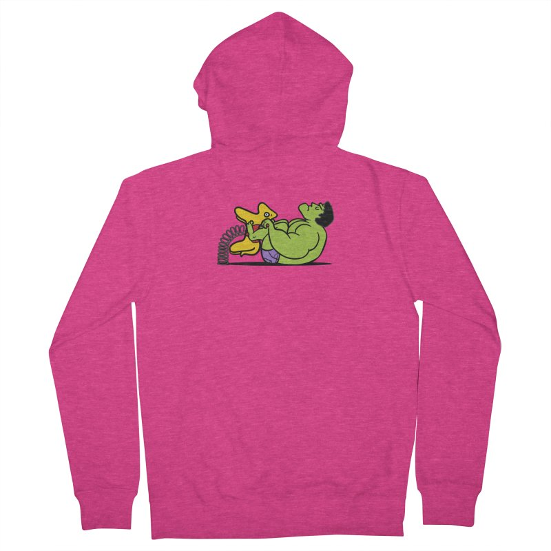 It's not easy being huge Women's French Terry Zip-Up Hoody by Phildesignart