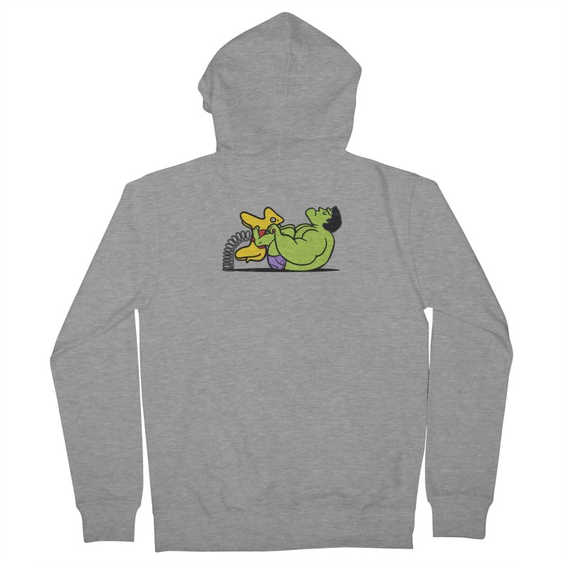 It's not easy being huge Men's French Terry Zip-Up Hoody by Phildesignart