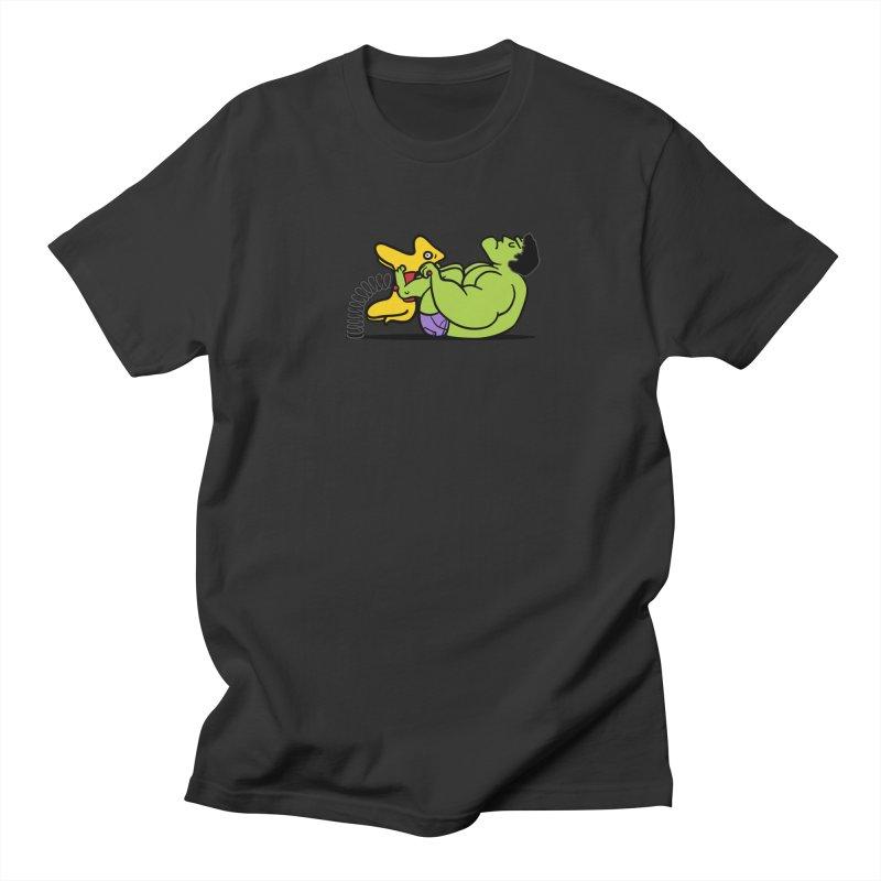 It's not easy being huge Men's Regular T-Shirt by Phildesignart