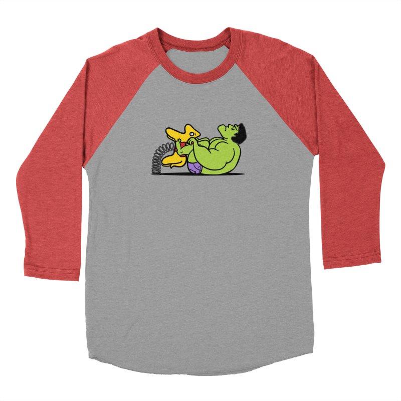 It's not easy being huge Men's Baseball Triblend T-Shirt by Phildesignart