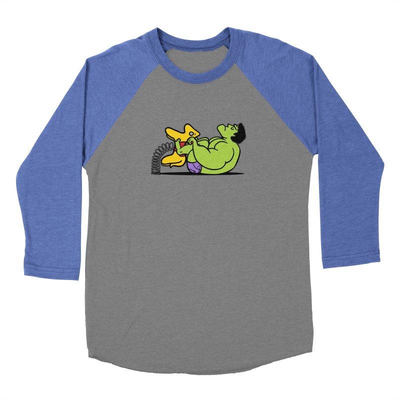 It's not easy being huge Men's Baseball Triblend Longsleeve T-Shirt by Phildesignart