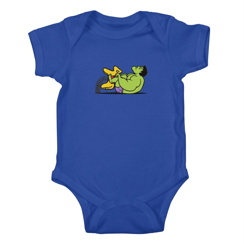 It's not easy being huge Kids Baby Bodysuit by Phildesignart
