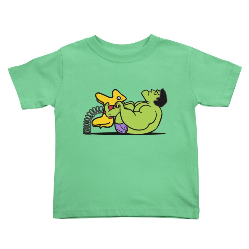 It's not easy being huge Kids Toddler T-Shirt by Phildesignart