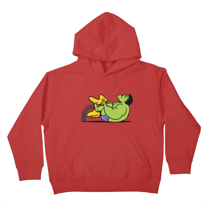 It's not easy being huge Kids Pullover Hoody by Phildesignart