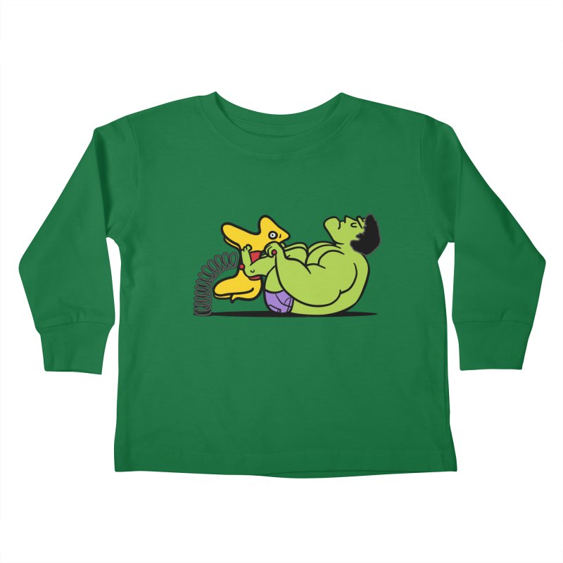 It's not easy being huge Kids Toddler Longsleeve T-Shirt by phildesignart's Artist Shop