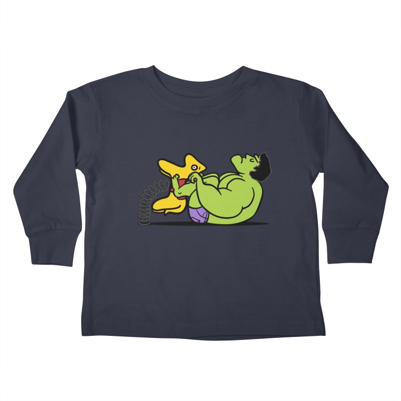 It's not easy being huge Kids Toddler Longsleeve T-Shirt by Phildesignart