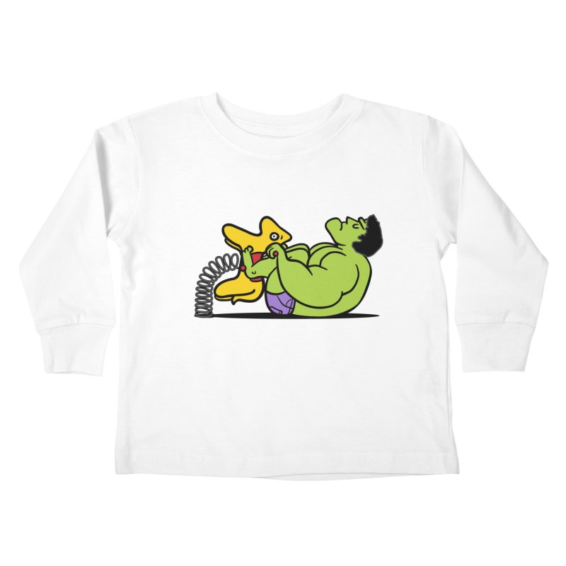 It's not easy being huge Kids Toddler Longsleeve T-Shirt by Phildesignart