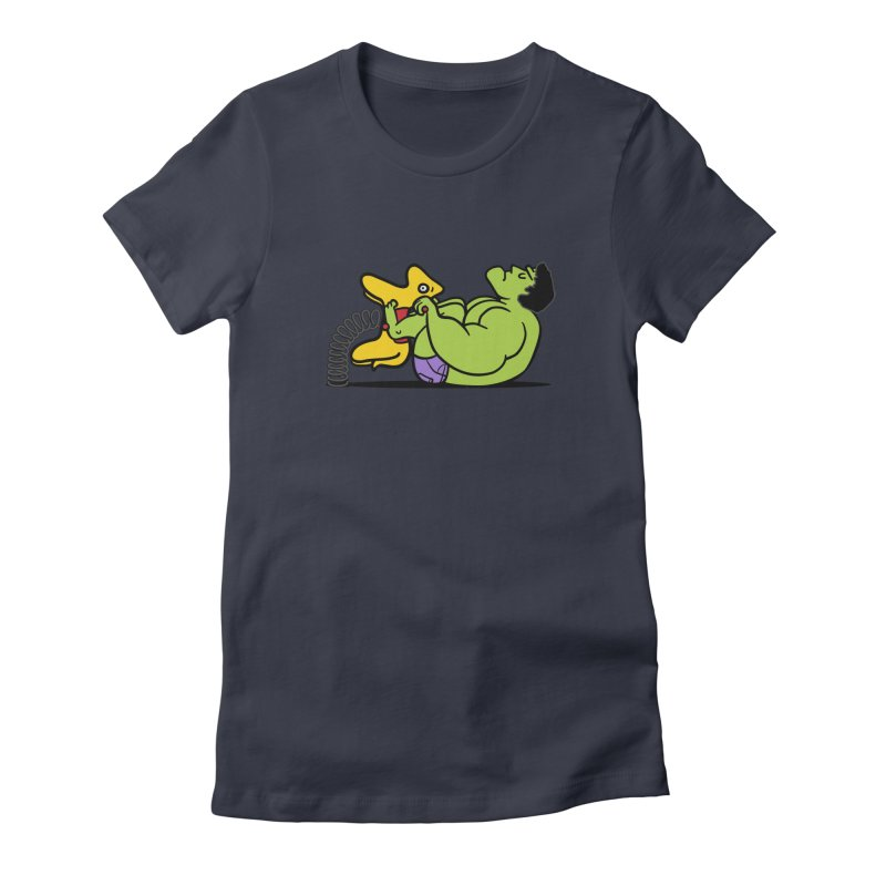 It's not easy being huge Women's Fitted T-Shirt by Phildesignart
