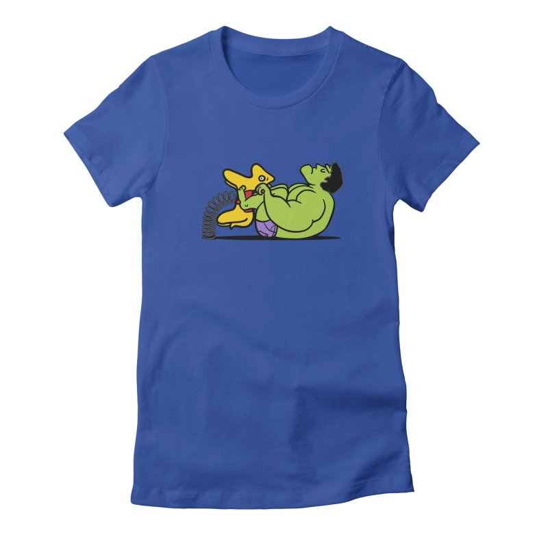 It's not easy being huge Women's Fitted T-Shirt by phildesignart's Artist Shop