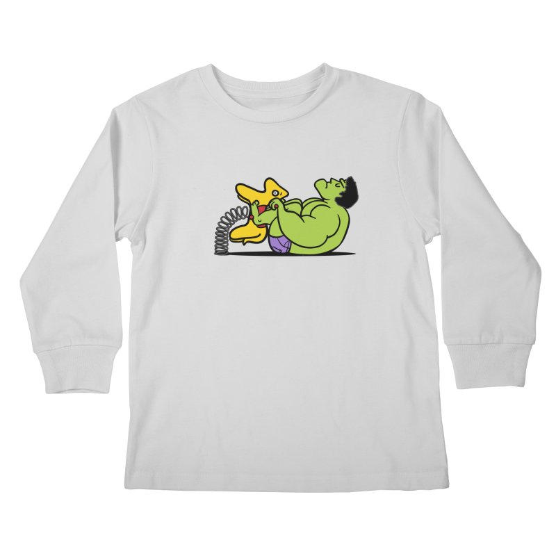 It's not easy being huge Kids Longsleeve T-Shirt by phildesignart's Artist Shop