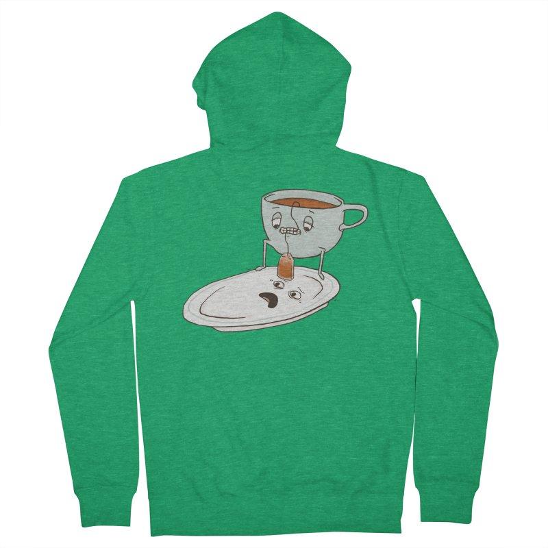 Tea Baggin' Women's French Terry Zip-Up Hoody by Phildesignart