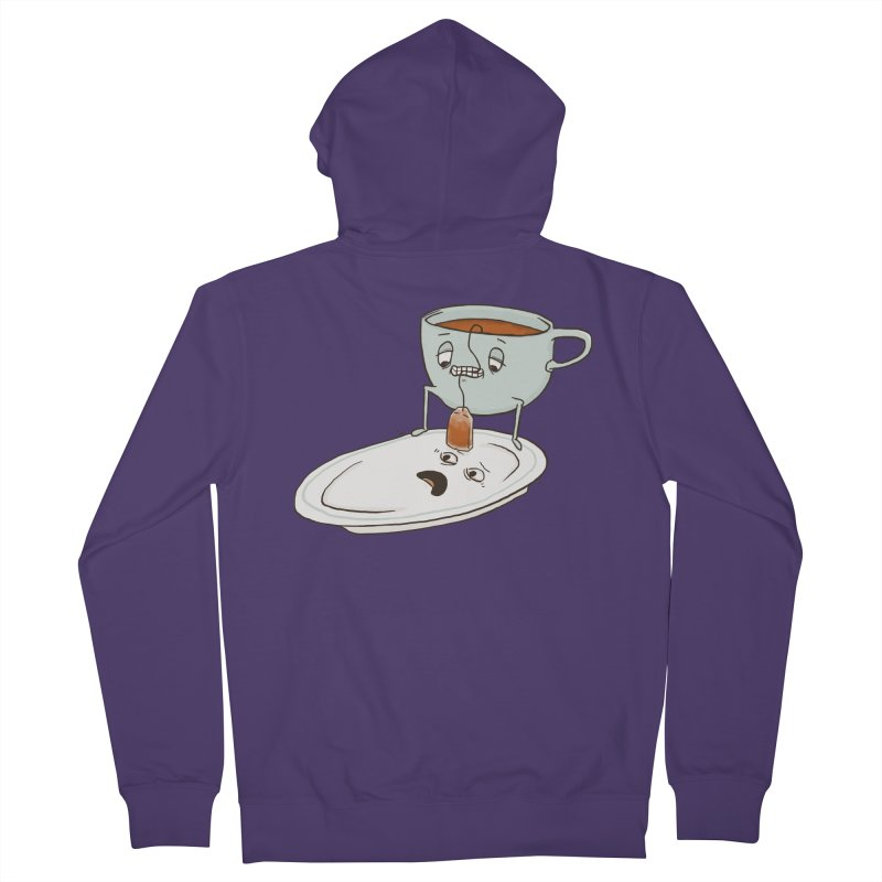 Tea Baggin' Women's French Terry Zip-Up Hoody by Phildesignart