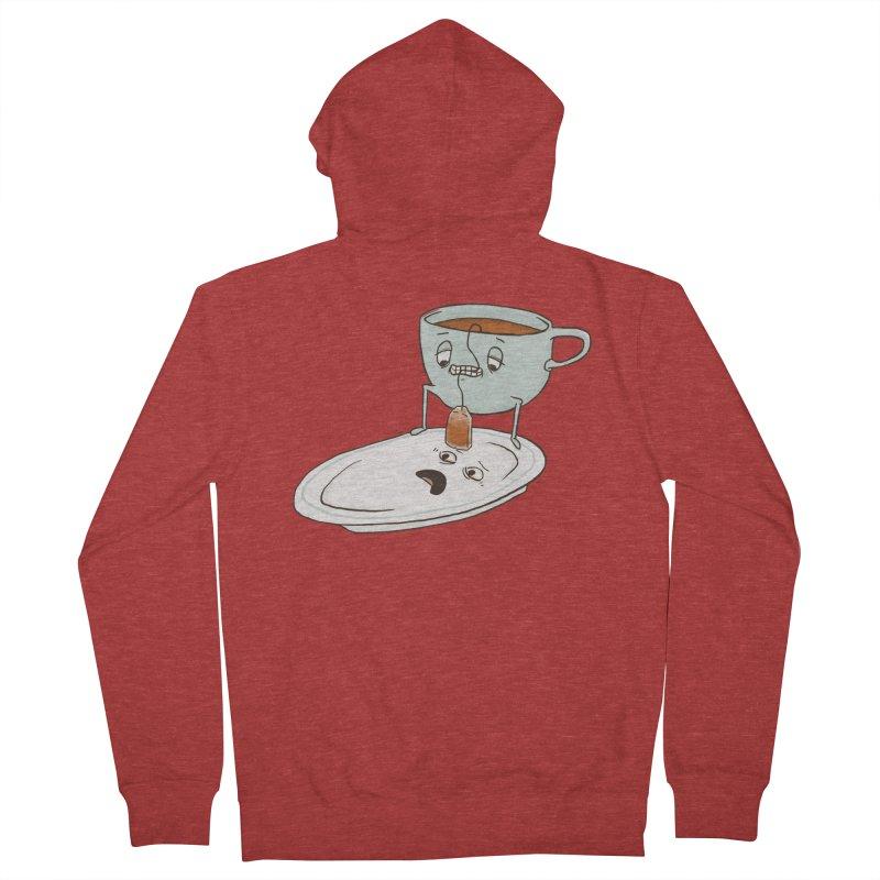 Tea Baggin' Men's French Terry Zip-Up Hoody by Phildesignart